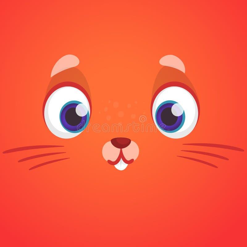 Het leuke dierlijke beeldverhaal van het vosgezicht Vector Geïsoleerdel illustratie Beeldverhaalkarakter voor kinderenboeken vector illustratie