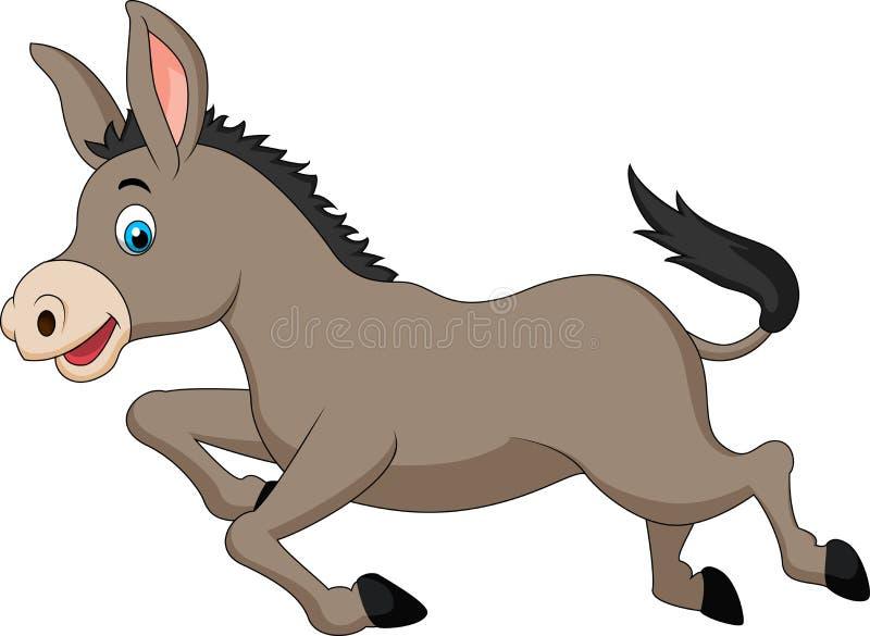 Het leuke ezelsbeeldverhaal lopen vector illustratie