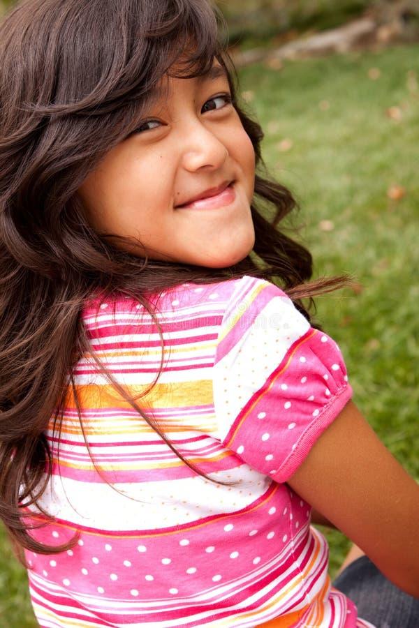 Het leuke Glimlachen van het Meisje stock fotografie