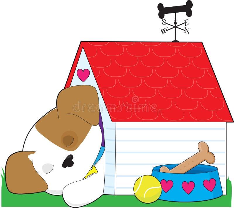 Het leuke Huis van de Hond van het Puppy stock illustratie