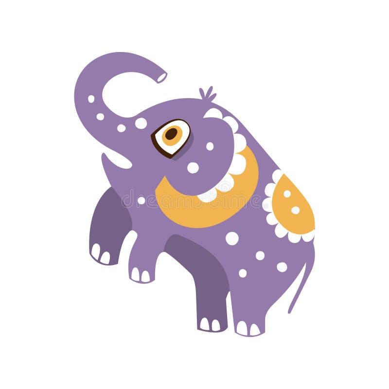 Het leuke karakter die van de beeldverhaalolifant zich op achterste benen vectorillustratie bevinden royalty-vrije illustratie