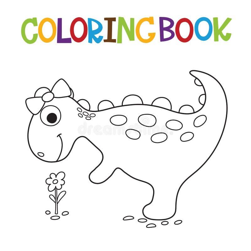 Het leuke kleurende boek van Dino stock illustratie