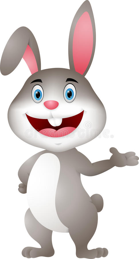 Het leuke konijnbeeldverhaal voorstellen stock illustratie