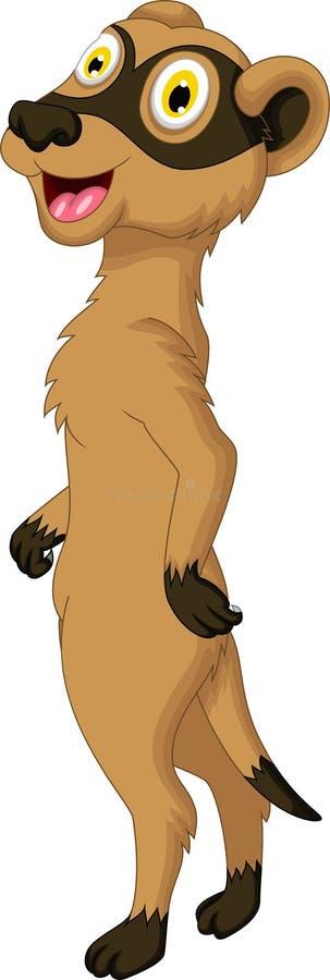 Het leuke meerkatbeeldverhaal stellen stock illustratie