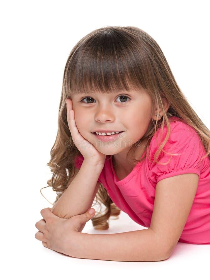 Het leuke meisje rust stock afbeelding