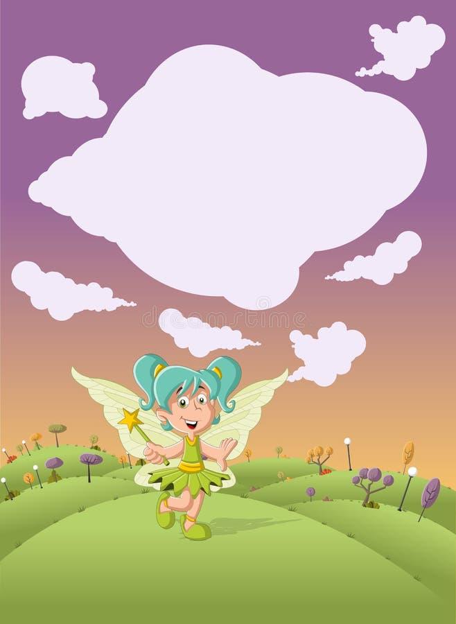 Download Het Leuke Meisje Van De Beeldverhaalfee Vector Illustratie - Illustratie bestaande uit mens, meisje: 54084760