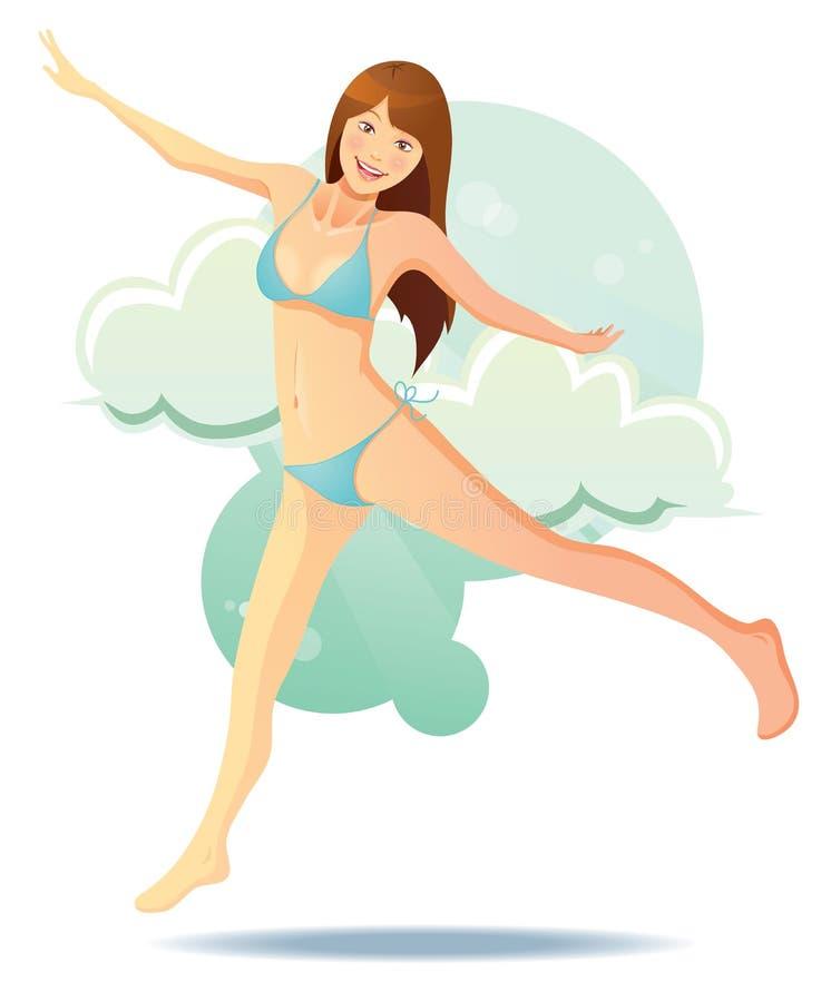 Het leuke Meisje van de Bikini stock illustratie