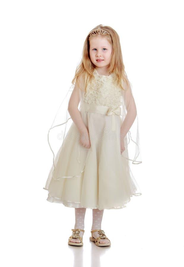 Het leuke meisje van de Prinsesbaby royalty-vrije stock foto