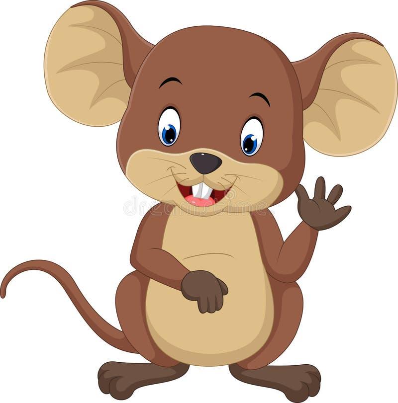 Het leuke muisbeeldverhaal golven stock illustratie