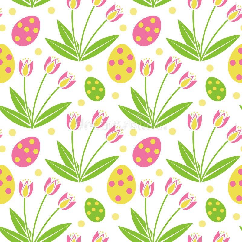Het leuke naadloze patroon van Pasen De lente die texturen herhalen Kinderen ` s, baby, jonge geitjes eindeloze achtergrond, docu vector illustratie