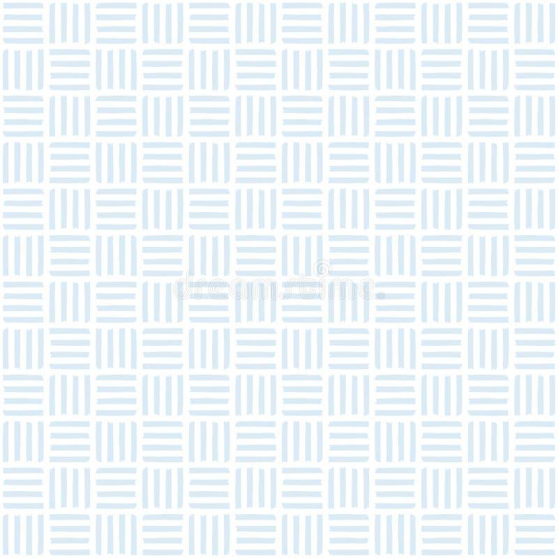 Het leuke naadloze van de het patroonmand van de babyjongen blauw van de het weefselpastelkleur vector illustratie