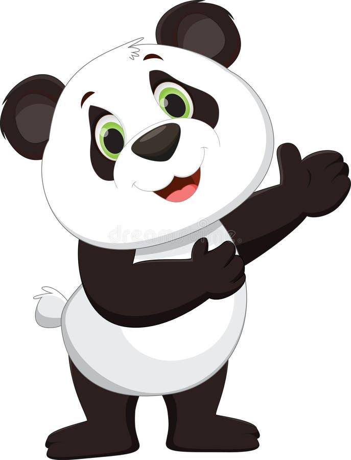Het leuke pandabeeldverhaal voorstellen stock illustratie