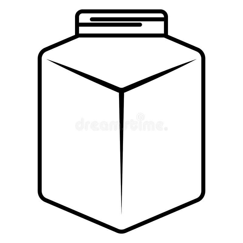Het leuke pictogram van de metselaarkruik vector illustratie