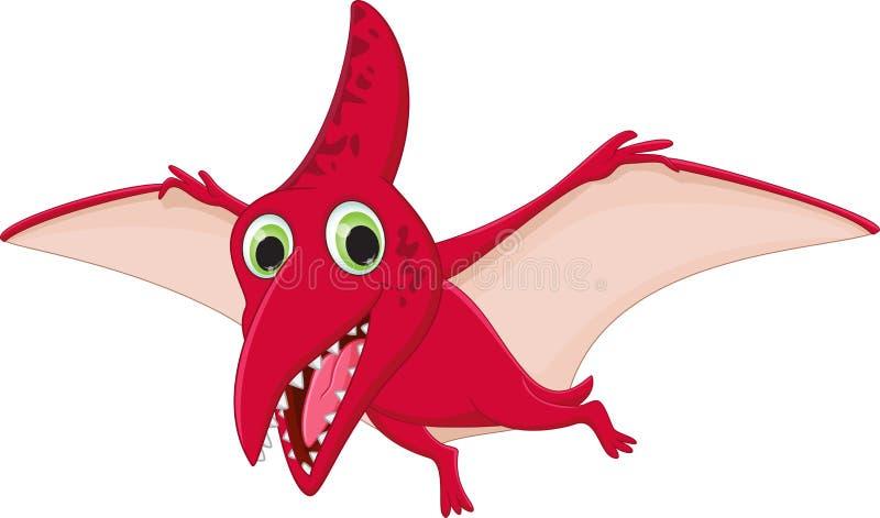 Het leuke pterodactylusbeeldverhaal vliegen royalty-vrije illustratie
