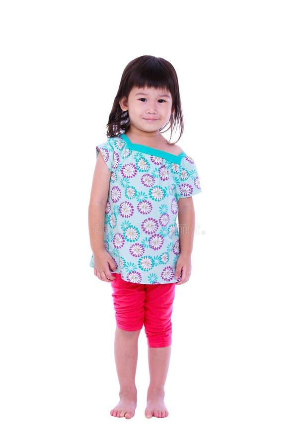 Het leuke smilling meisje stelt voor een beeld boven het beeld - een citaat van de voorzitter John F royalty-vrije stock foto's