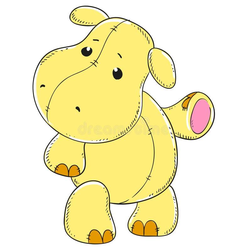 Het leuke zachte stuk speelgoed van Hippo royalty-vrije illustratie