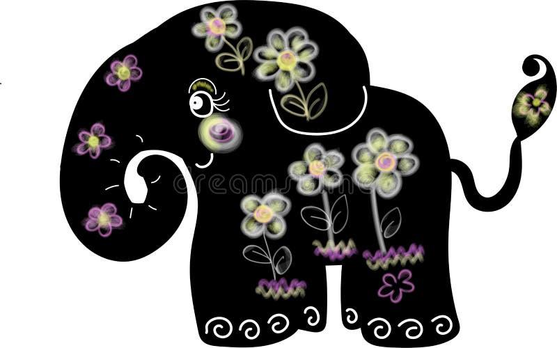 Het leuke zwarte dierlijke art. van de olifantsbloem stock foto's