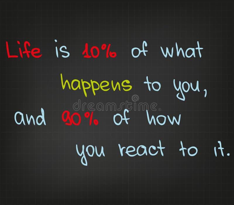 Het leven is vector illustratie