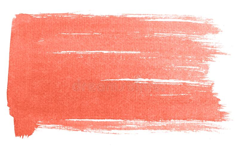 Het leven de achtergrond van de Koraalwaterverf op wit wordt geïsoleerd dat stock illustratie