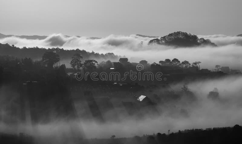 Het leven in de wolken stock afbeeldingen