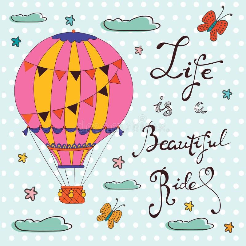 Het leven is een mooie rit royalty-vrije illustratie