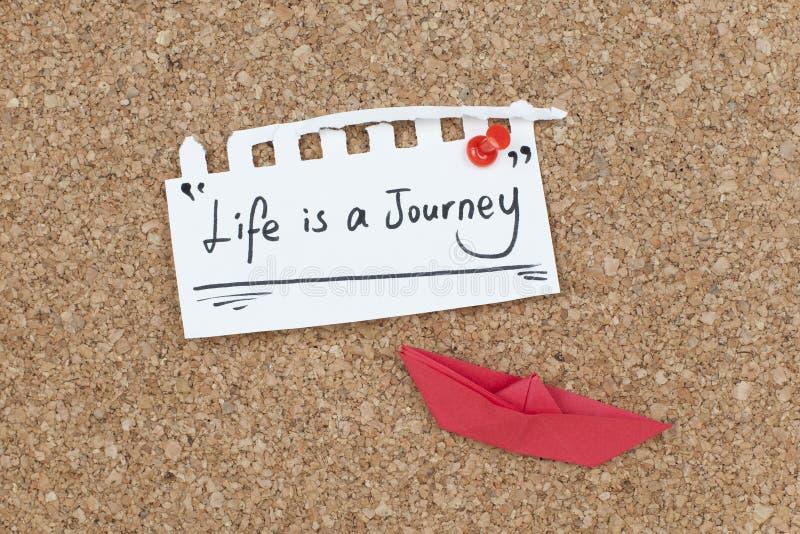 Het leven is een ontwerp van het reis inspirational citaat royalty-vrije stock afbeeldingen