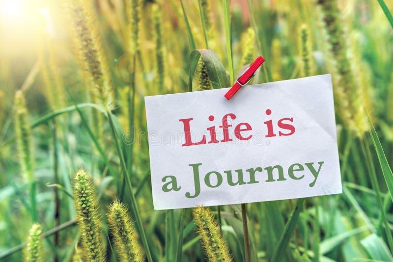 Het leven is een reis stock afbeeldingen