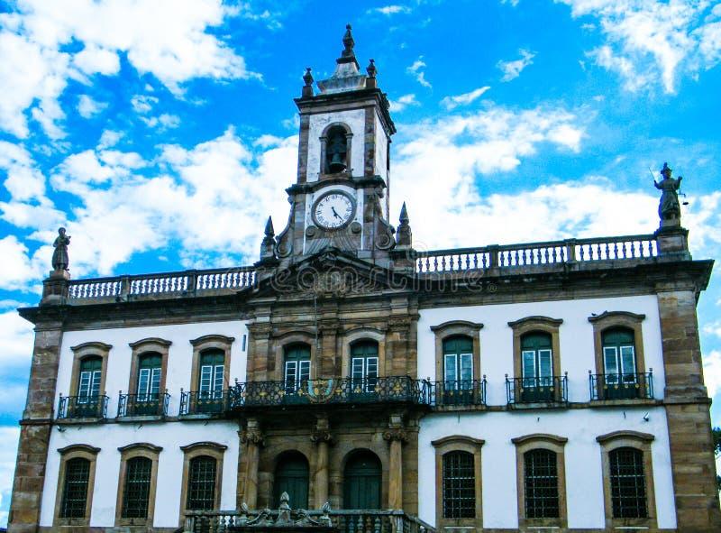 Het leven geschiedenis in Ouro Preto (Minas Gerais - Brazilië) royalty-vrije stock afbeelding