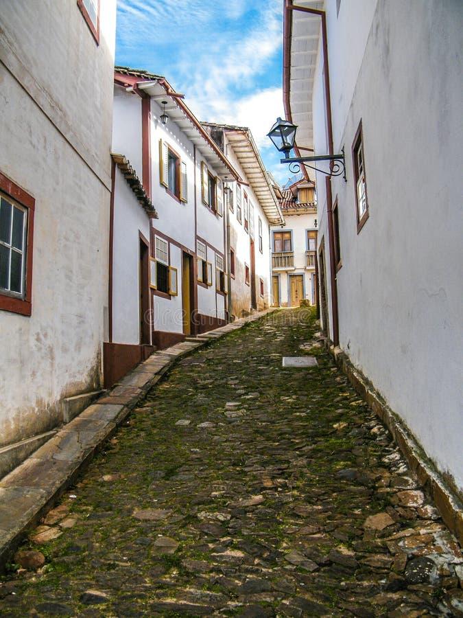 Het leven geschiedenis in Ouro Preto (Minas Gerais - Brazilië) stock fotografie