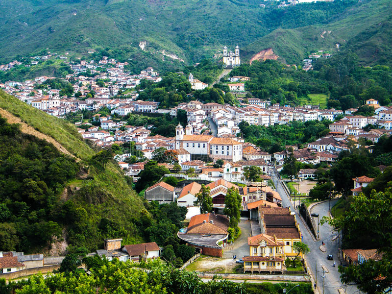 Het leven geschiedenis in Ouro Preto (Minas Gerais - Brazilië) royalty-vrije stock foto