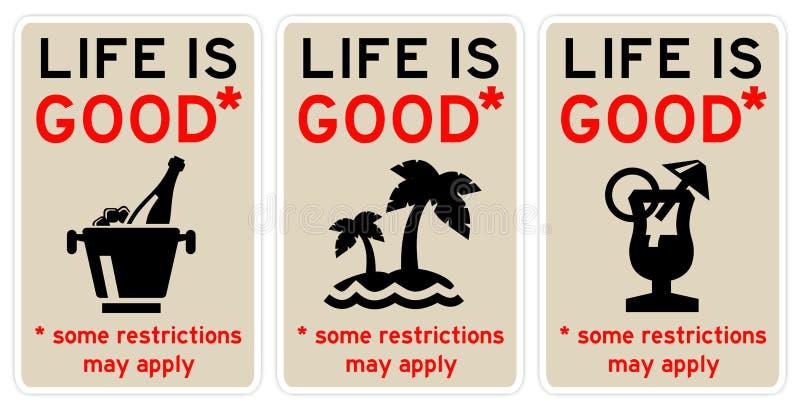 Het leven is goed vector illustratie
