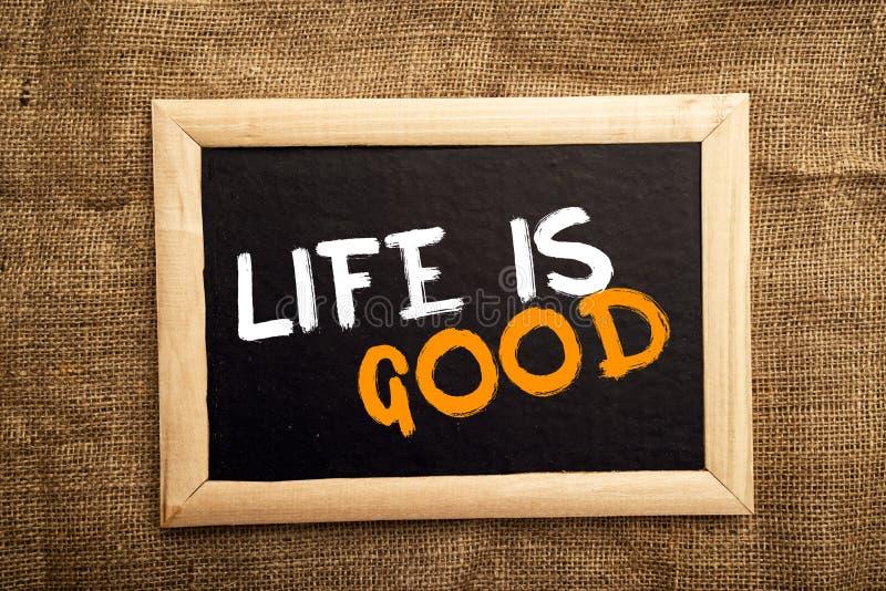 Het leven is goed stock foto
