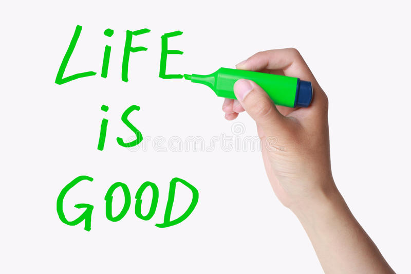 Het leven is goed stock afbeelding