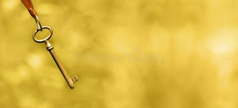 Het leven het trainen banner in goud stock foto