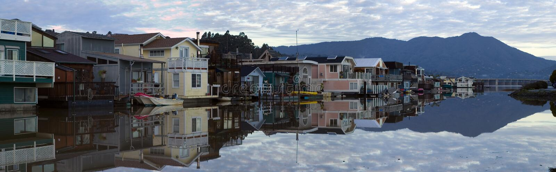 Het leven op het water - Sausalito 1 royalty-vrije stock afbeelding