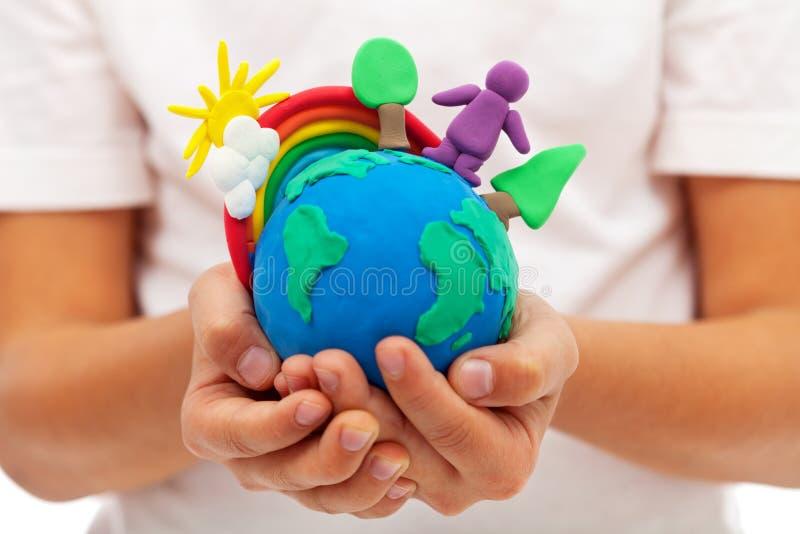 Het leven ter wereld - milieu en ecologieconcept royalty-vrije stock afbeeldingen