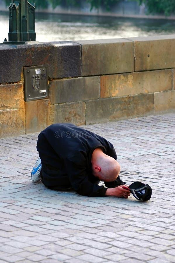 Het leven van de armoede op de straat stock fotografie