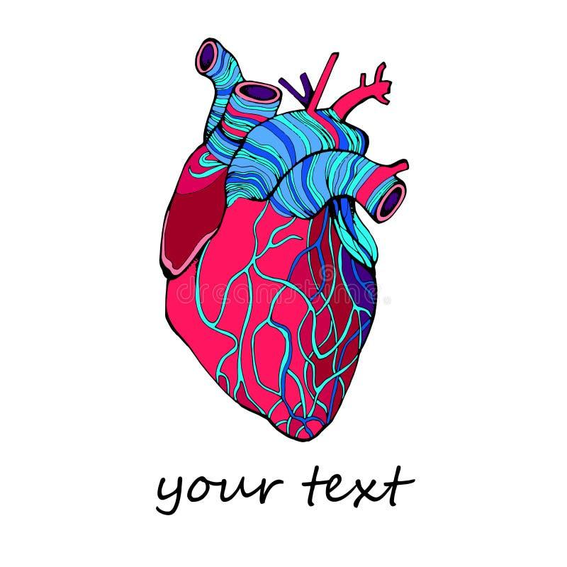 Het leven van de de liefdeillustratie van de hart vectorgezondheid medische het leven grafische kunst stock illustratie