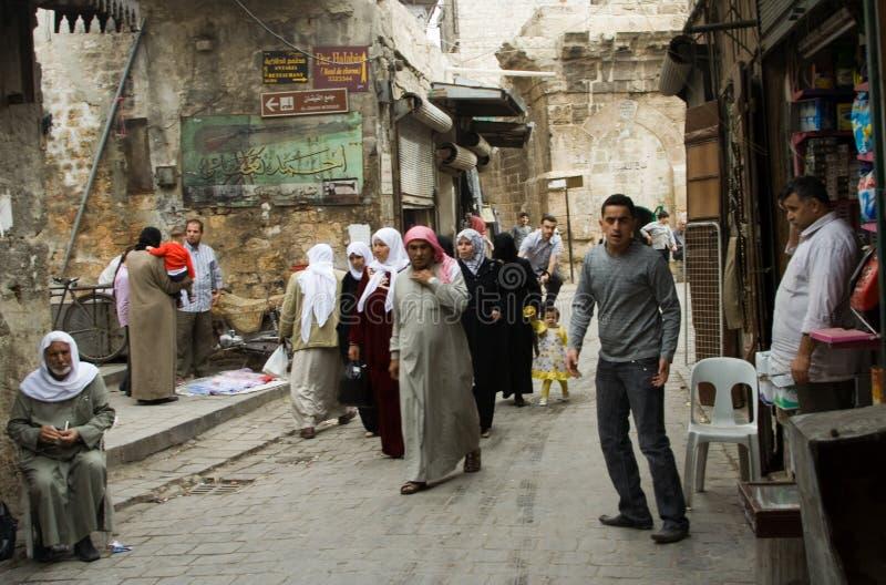 Het leven van de straat in Aleppo, Syrië royalty-vrije stock afbeeldingen