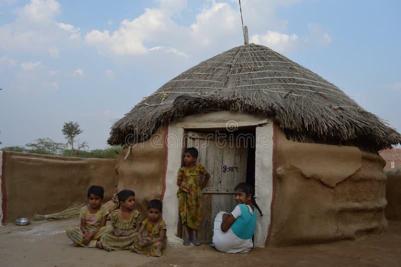 Het leven van het dorp stock foto's