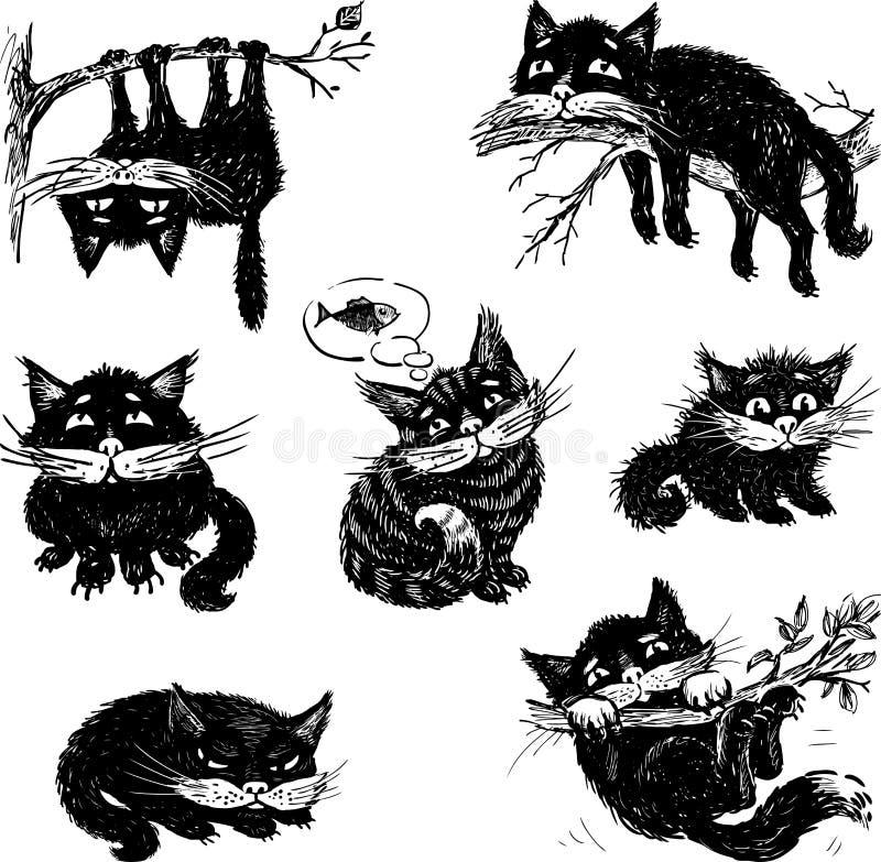 Het leven van een kat royalty-vrije illustratie