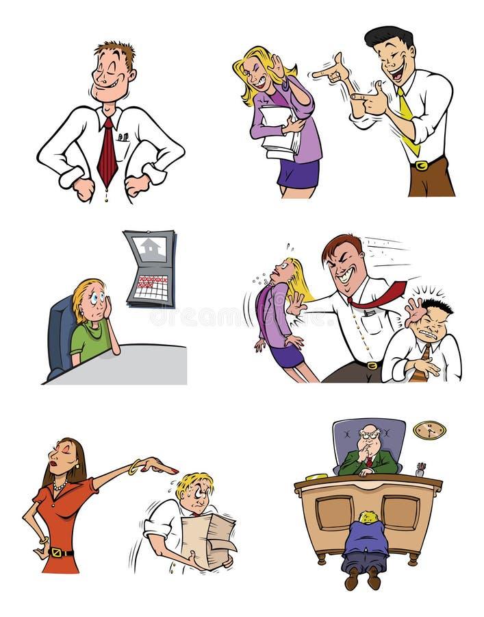 Het leven van het bureau royalty-vrije illustratie