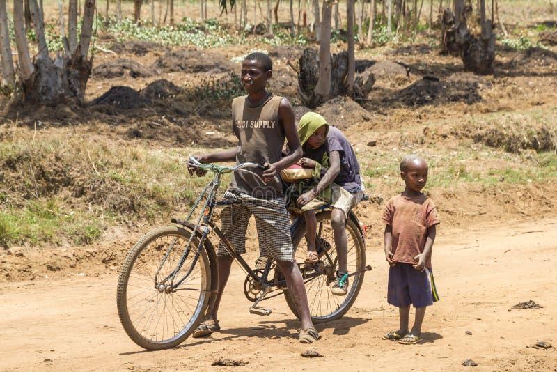 Het leven van het land in Burundi stock afbeeldingen