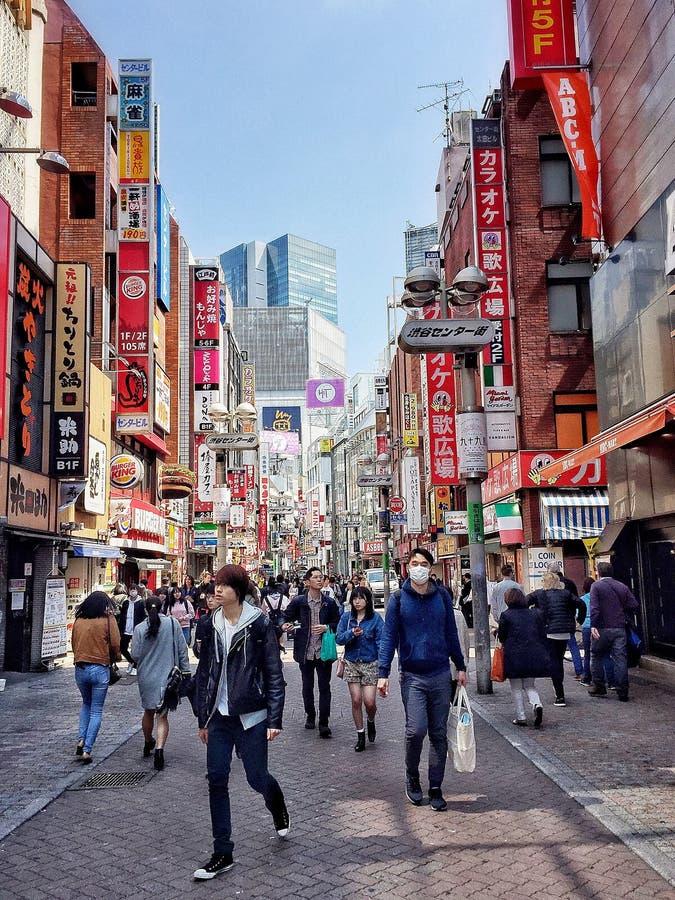 Het leven van Tokyo stock foto's