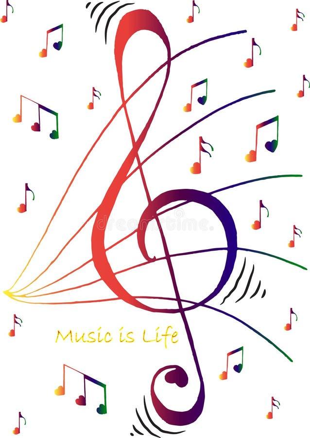 Het leven is volledig van Muziek stock foto's