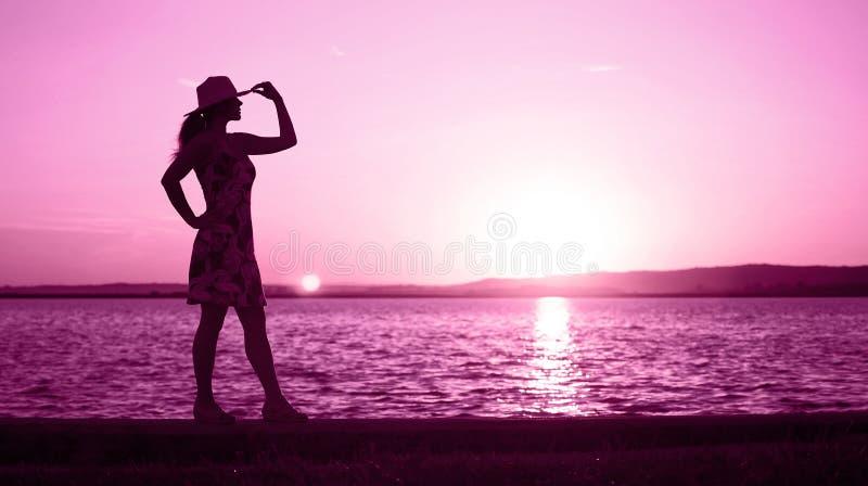 Het levensbus en motivatieconcept in roze stock foto's