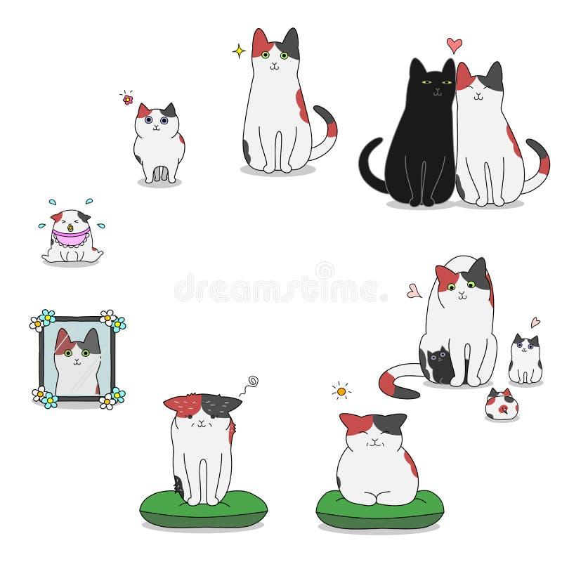 Het levenscyclus van de kat vector illustratie