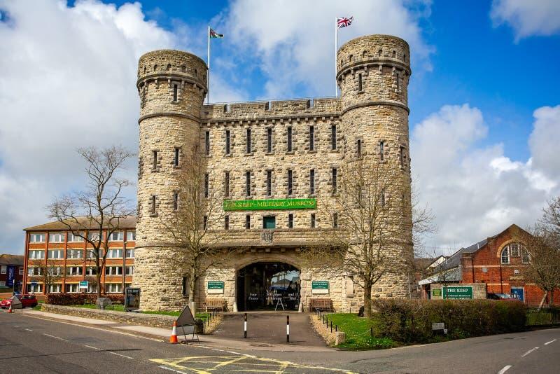 Het Levensonderhoud Militaire regimentsmuseum, Dorchester royalty-vrije stock afbeelding