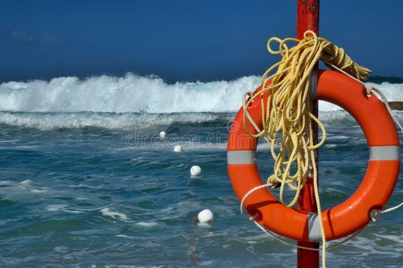 Het levensspaarder van het strand royalty-vrije stock foto's