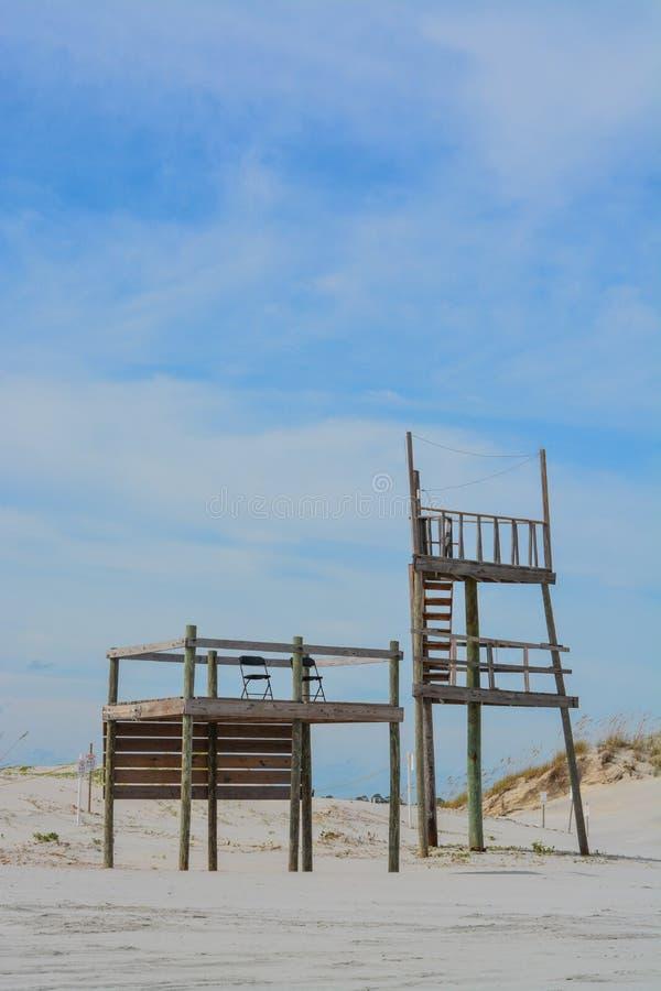 Het levenswacht Station en Toren op de Atlantische Oceaan in Jacksonville royalty-vrije stock foto's